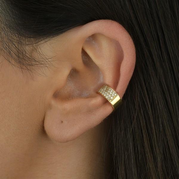 Piercing argola com diamantes