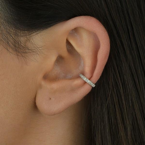 Piercing argola fina com diamantes