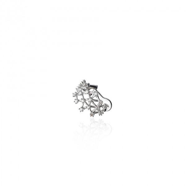 Piercing de diamantes ouro 18k