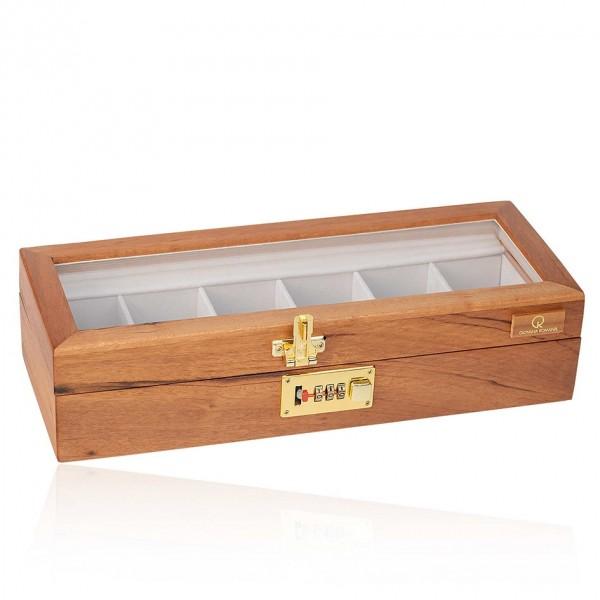 Caixa porta relógios com 6 espaços