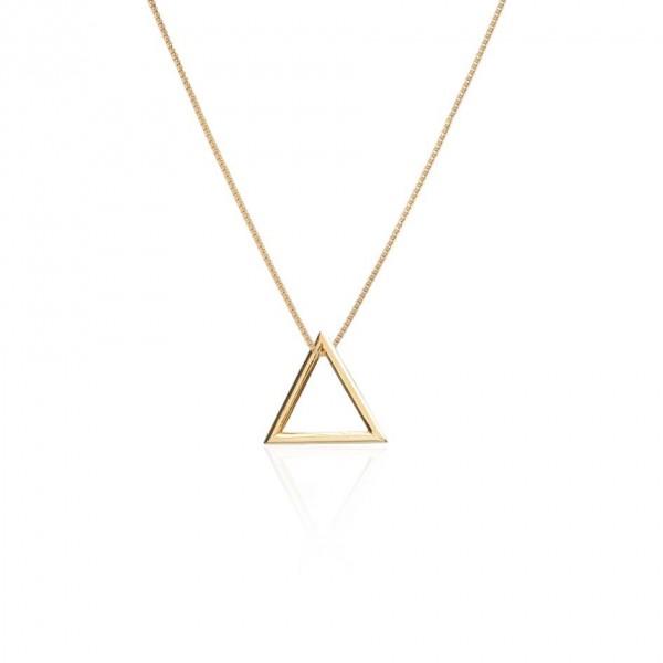 Pingente triângulo em ouro 18k